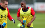 Michael Obafemi of Southampton FC during a training session at the Staplewood Campus, Southampton, 23rd January 2018