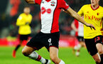 SOUTHAMPTON, ENGLAND - JANUARY 27: Guido Carrillo of Southampton FC during the FA Cup 4th round match between Southampton FC and Watford, at St Mary's Stadium on January 27, 2018 in Southampton, England. (Photo by Chris Moorhouse/Southampton FC via Getty Images)