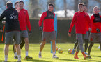 SOUTHAMPTON, ENGLAND - JANUARY 30: Guido Carrillo(centre) of Southampton FC during a training session at the Staplewood Campus on January 30, 2018 in Southampton, England. (Photo by Matt Watson/Southampton FC via Getty Images)