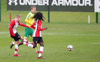 Kornelius Hansen scores during the U18 PL match between Southampton and Norwich City, pictured at the Staplewood Campus, Southampton, 10th February 2018