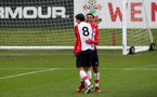 Enzo Robsie celebrates his goal during the U18 PL match between Southampton and Norwich City, pictured at the Staplewood Campus, Southampton, 10th February 2018