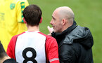 Craig Flemming gives instruction during the U18 PL match between Southampton and Norwich City, pictured at the Staplewood Campus, Southampton, 10th February 2018