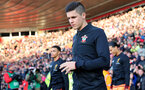 SOUTHAMPTON, ENGLAND - FEBRUARY 11: Guido Carrillo of Southampton during the Premier League match between Southampton and Liverpool at St Mary's Stadium on February 11, 2018 in Southampton, England. (Photo by Matt Watson/Southampton FC via Getty Images)
