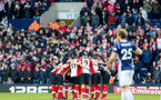 WEST BROMWICH, ENGLAND - FEBRUARY 17: Saints huddle during the Emirates FA Cup fifth round match between West Bromwich Albion and Southampton at The Hawthorns on February 17, 2018 in West Bromwich, England. (Photo by Matt Watson/Southampton FC via Getty Images)