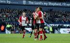 WEST BROMWICH, ENGLAND - FEBRUARY 17: Dusan Tadic and Guido Carrillo of Southampton during the Emirates FA Cup fifth round match between West Bromwich Albion and Southampton at The Hawthorns on February 17, 2018 in West Bromwich, England. (Photo by Matt Watson/Southampton FC via Getty Images)