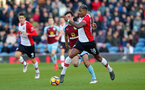 BURNLEY, ENGLAND - FEBRUARY 24: Mario Lemina of Southampton during the Premier League match between Burnley and Southampton at Turf Moor on February 24, 2018 in Burnley, England. (Photo by Matt Watson/Southampton FC via Getty Images)