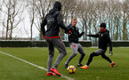 SOUTHAMPTON, ENGLAND - MARCH 02: James Ward-Prowse(L) and Cedric of Southampton FC during a training session at the Staplewood Campus on March 2, 2018 in Southampton, England. (Photo by Matt Watson/Southampton FC via Getty Images)