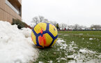 SOUTHAMPTON, ENGLAND - MARCH 02: general view of snow during a training session at the Staplewood Campus on March 2, 2018 in Southampton, England. (Photo by Matt Watson/Southampton FC via Getty Images)