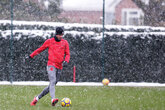 Gallery: Saints train in the snow