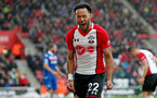 SOUTHAMPTON, ENGLAND - MARCH 03: Nathan Redmond of Southampton shows his frustration during the Premier League match between Southampton and Stoke City at St Mary's Stadium on March 3, 2018 in Southampton, England. (Photo by Matt Watson/Southampton FC via Getty Images)