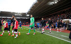 SOUTHAMPTON, ENGLAND - MARCH 03: the teams head out onto the pitch during the Premier League match between Southampton and Stoke City at St Mary's Stadium on March 3, 2018 in Southampton, England. (Photo by Matt Watson/Southampton FC via Getty Images)