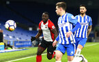 SOUTHAMPTON, ENGLAND - MARCH 05: Olufela Olomola during the PL2 U23's match between Brighton & Hove Albion FC and Southampton FC at American Express Community Stadium on March 5, 2018 in Southampton, England. (Photo by James Bridle - Southampton FC/Southampton FC via Getty Images)
