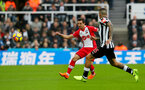 NEWCASTLE UPON TYNE, ENGLAND - MARCH 10: Cedric of Southampton FC during the Premier League match between Newcastle United and Southampton at St. James Park on March 10, 2018 in Newcastle upon Tyne, England. (Photo by Matt Watson/Southampton FC via Getty Images)