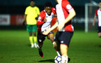 SOUTHAMPTON, ENGLAND - MARCH 12: Nathan Tella during the PL2 match between Southampton FC and Norwich City FC at Staplewood Training Ground on March 12, 2018 in Southampton, England. (Photo by James Bridle - Southampton FC/Southampton FC via Getty Images)