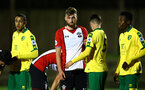 SOUTHAMPTON, ENGLAND - MARCH 12: Aaron OÕdriscoll during a corner for the PL2 match between Southampton FC and Norwich City FC at Staplewood Training Ground on March 12, 2018 in Southampton, England. (Photo by James Bridle - Southampton FC/Southampton FC via Getty Images) SOUTHAMPTON, ENGLAND - MARCH 12: Aaron O'driscoll during a corner for the PL2 match between Southampton FC and Norwich City FC at Staplewood Training Ground on March 12, 2018 in Southampton, England. (Photo by James Bridle - Southampton FC/Southampton FC via Getty Images)