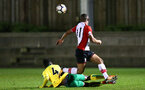 SOUTHAMPTON, ENGLAND - MARCH 12: Tyreke Johnson (right) during the PL2 match between Southampton FC and Norwich City FC at Staplewood Training Ground on March 12, 2018 in Southampton, England. (Photo by James Bridle - Southampton FC/Southampton FC via Getty Images)
