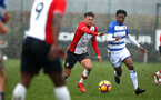 SOUTHAMPTON, ENGLAND - MARCH 17: Harry Hamblin (middle) during the U18's match between Southampton FC and Reading FC at Staplewood Complex on March 16, 2018 in Southampton, England. (Photo by James Bridle - Southampton FC/Southampton FC via Getty Images)