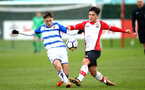 SOUTHAMPTON, ENGLAND - MARCH 17: Sean Brennan (right) during the U18's match between Southampton FC and Reading FC at Staplewood Complex on March 16, 2018 in Southampton, England. (Photo by James Bridle - Southampton FC/Southampton FC via Getty Images)