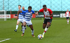 SOUTHAMPTON, ENGLAND - MARCH 17: Jonathan Afolabi (right) during the U18's match between Southampton FC and Reading FC at Staplewood Complex on March 16, 2018 in Southampton, England. (Photo by James Bridle - Southampton FC/Southampton FC via Getty Images)