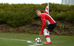 SOUTHAMPTON, ENGLAND - MARCH 17: Kornelius Hasen takes a corner during the U18's match between Southampton FC and Reading FC at Staplewood Complex on March 16, 2018 in Southampton, England. (Photo by James Bridle - Southampton FC/Southampton FC via Getty Images)