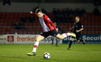 BLACKBURN, ENGLAND - MARCH 20: Jake Hesketh shoots during the U23's PL2 match between Blackburn Rovers FC and Southampton FC at Lancashire County FA on March 20, 2018 in Leyland, England. (Photo by James Bridle - Southampton FC/Southampton FC via Getty Images)