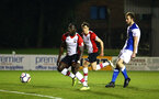 BLACKBURN, ENGLAND - MARCH 20: Olufela Olomola (left) during the U23's PL2 match between Blackburn Rovers FC and Southampton FC at Lancashire County FA on March 20, 2018 in Leyland, England. (Photo by James Bridle - Southampton FC/Southampton FC via Getty Images)