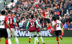 LONDON, ENGLAND - MARCH 31: Wesley Hoedt of Southampton during the Premier League match between West Ham United and Southampton at the London Stadium on March 31, 2018 in London, England. (Photo by Matt Watson/Southampton FC via Getty Images)