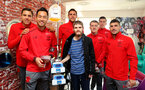 Southampton FC players and staff visit Southampton General Hospital, 3rd April 2018