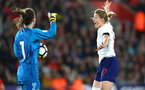 SOUTHAMPTON, ENGLAND - APRIL 06: Ellen White (right) during the England Lionesses vs Wales Womens match at St Mary's Stadium on April 6, 2018 in Southampton, England. (Photo by James Bridle - Southampton FC/Southampton FC via Getty Images)