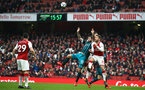 LONDON, ENGLAND - APRIL 08: Charlie Austin of Southampton FC (middle) takes on Shkodran Mustafi (right) during the Premier League match between Arsenal and Southampton at Emirates Stadium on April 8, 2018 in London, England. (Photo by James Bridle - Southampton FC/Southampton FC via Getty Images)
