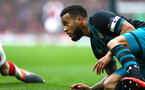LONDON, ENGLAND - APRIL 08: Ryan Bertrand (right) of Southampton FC during the Premier League match between Arsenal and Southampton at Emirates Stadium on April 8, 2018 in London, England. (Photo by James Bridle - Southampton FC/Southampton FC via Getty Images)