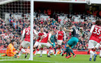 LONDON, ENGLAND - APRIL 08: Charlie Austin(10) of Southampton equalises during the Premier League match between Arsenal and Southampton at Emirates Stadium on April 8, 2018 in London, England. (Photo by Matt Watson/Southampton FC via Getty Images)
