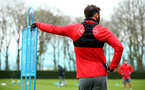 SOUTHAMPTON, ENGLAND - APRIL 12: Charlie Austin during a Southampton FC training session at Staplewood Complex on April 12, 2018 in Southampton, England. (Photo by James Bridle - Southampton FC/Southampton FC via Getty Images)