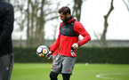 SOUTHAMPTON, ENGLAND - APRIL 12: Charlie Austin (middle) during a Southampton FC training session at Staplewood Complex on April 12, 2018 in Southampton, England. (Photo by James Bridle - Southampton FC/Southampton FC via Getty Images)