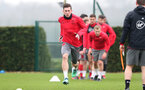 SOUTHAMPTON, ENGLAND - APRIL 12: Pierre-Emile Hojbjerg during a Southampton FC training session at the Staplewood Campus on April 12, 2018 in Southampton, England. (Photo by Matt Watson/Southampton FC via Getty Images)