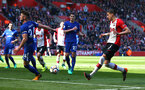 SOUTHAMPTON, ENGLAND - APRIL 14: Jan Bednarek scores for Southampton FC (right) during the Premier League match between Southampton and Chelsea at St Mary's Stadium on April 14, 2018 in Southampton, England. (Photo by Chris Moorhouse/Southampton FC via Getty Images)