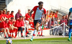 SOUTHAMPTON, ENGLAND - APRIL 18: Kayne Samsay (middle) during the U18 Premier League match between Southampton FC and Arsenal FC at Staplewood Complex on April 17, 2018 in Southampton, England. (Photo by James Bridle - Southampton FC/Southampton FC via Getty Images)