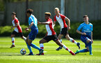 SOUTHAMPTON, ENGLAND - APRIL 18: Enzo Robise (middle) during the U18 Premier League match between Southampton FC and Arsenal FC at Staplewood Complex on April 17, 2018 in Southampton, England. (Photo by James Bridle - Southampton FC/Southampton FC via Getty Images)