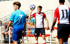 SOUTHAMPTON, ENGLAND - APRIL 18: Jake Vokins (middle) during the U18 Premier League match between Southampton FC and Arsenal FC at Staplewood Complex on April 17, 2018 in Southampton, England. (Photo by James Bridle - Southampton FC/Southampton FC via Getty Images)