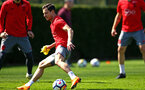 SOUTHAMPTON, ENGLAND - APRIL 18: Cedric during a Southampton FC Training session at Staplewood Complex on April 17, 2018 in Southampton, England. (Photo by James Bridle - Southampton FC/Southampton FC via Getty Images)