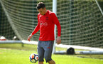 SOUTHAMPTON, ENGLAND - APRIL 18: Pierre-Emile H¿jbjerg during a Southampton FC Training session at Staplewood Complex on April 17, 2018 in Southampton, England. (Photo by James Bridle - Southampton FC/Southampton FC via Getty Images) SOUTHAMPTON, ENGLAND - APRIL 18: Pierre-Emile Højbjerg during a Southampton FC Training session at Staplewood Complex on April 17, 2018 in Southampton, England. (Photo by James Bridle - Southampton FC/Southampton FC via Getty Images)
