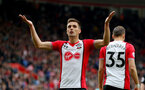 SOUTHAMPTON, ENGLAND - APRIL 28: Dusan Tadic of Southampton celebrates during the Premier League match between Southampton and AFC Bournemouth at St Mary's Stadium on April 28, 2018 in Southampton, England. (Photo by Matt Watson/Southampton FC via Getty Images)