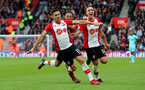 SOUTHAMPTON, ENGLAND - APRIL 28: Dusan Tadic(L) of Southampton celebrates after scoring his second to make it 2-1 to Southampton during the Premier League match between Southampton and AFC Bournemouth at St Mary's Stadium on April 28, 2018 in Southampton, England. (Photo by Matt Watson/Southampton FC via Getty Images)