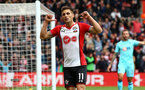 SOUTHAMPTON, ENGLAND - APRIL 28: Dusan Tadic (middle) scores for Southampton FC during the Premier League match between Southampton and AFC Bournemouth at St Mary's Stadium on April 28, 2018 in Southampton, England. (Photo by James Bridle - Southampton FC/Southampton FC via Getty Images)