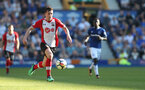 LIVERPOOL, ENGLAND - MAY 05: Pierre-Emile Hojbjerg of Southampton during the Premier League match between Everton and Southampton at Goodison Park on May 5, 2018 in Liverpool, England. (Photo by Matt Watson/Southampton FC via Getty Images)