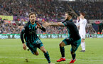 SWANSEA, WALES - MAY 08: Manolo Gabbiadini of Southampton celebrates after scoring during the Premier League match between Swansea City and Southampton at Liberty Stadium on May 8, 2018 in Swansea, Wales. (Photo by Matt Watson/Southampton FC via Getty Images)