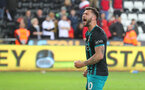 SWANSEA, WALES - MAY 08: Charlie Austin of Southampton after the Premier League match between Swansea City and Southampton at Liberty Stadium on May 8, 2018 in Swansea, Wales. (Photo by Matt Watson/Southampton FC via Getty Images)
