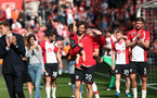 SOUTHAMPTON, ENGLAND - MAY 13: From left, Jan Bednarek, Manolo Gabbiadini and Jack Stephens. Lap of appreciation after the Premier League match between Southampton and Manchester City at St Mary's Stadium on May 13, 2018 in Southampton, England. (Photo by Chris Moorhouse/Southampton FC via Getty Images)