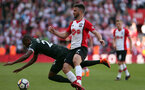 SOUTHAMPTON, ENGLAND - MAY 13: Shane Long during the Premier League match between Southampton and Manchester City at St Mary's Stadium on May 13, 2018 in Southampton, England. (Photo by Chris Moorhouse/Southampton FC via Getty Images)