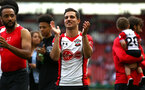 SOUTHAMPTON, ENGLAND - MAY 13: Cedric of Southampton FC  (middle) during the Premier League match between Southampton and Manchester City at St Mary's Stadium on May 13, 2018 in Southampton, England. (Photo by James Bridle - Southampton FC/Southampton FC via Getty Images)